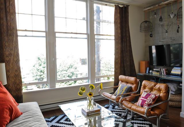 Haute Culture industrial-living-room