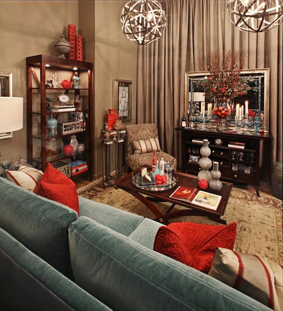 Haute house ladies lounge vignette at michigan design center transitional living room for Michigan design center home tour