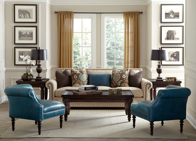 Transitional Living Room Furniture : Havertys Furniture - Transitional - Living Room - other ...