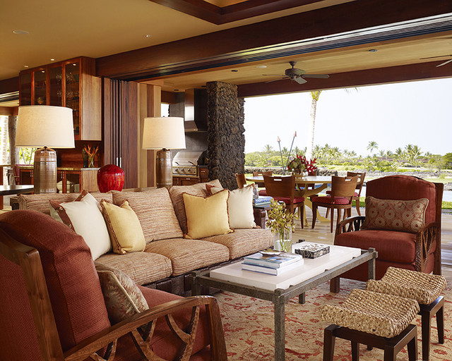 Hawaii Residence tropical-living-room