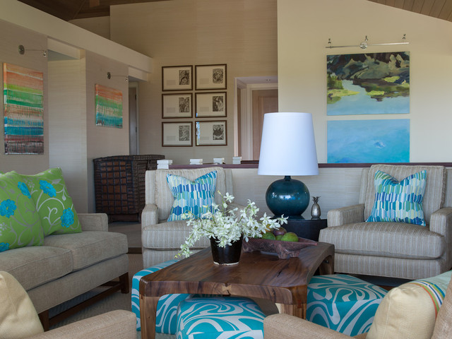 Hawaiian Luxury Contemporary Living Room Hawaii By Henderson Design G