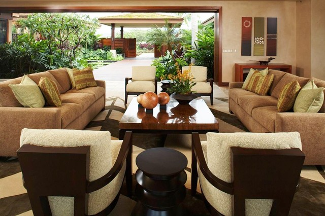 Hawaiian Retreat Living Room Tropical