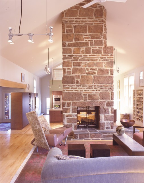 Donald Billinkoff Architects contemporary-living-room