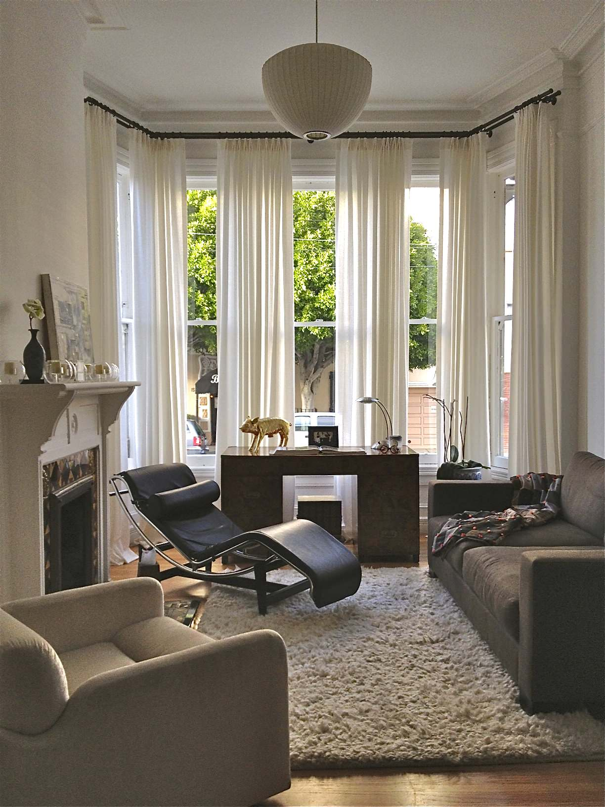 Picture of: Bay Window Curtains Houzz