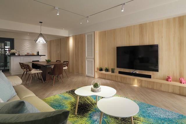 hdb 3 room at hougang by spaceart scandinavian living room designHdb Living Room Photos #12