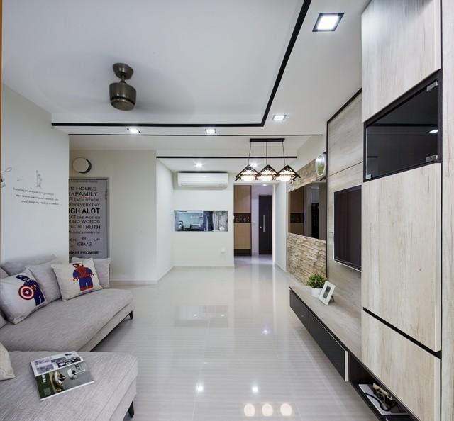Hdb Trivelis 311b Clementi Ave 4 Scandinavian Living Room Singapore By
