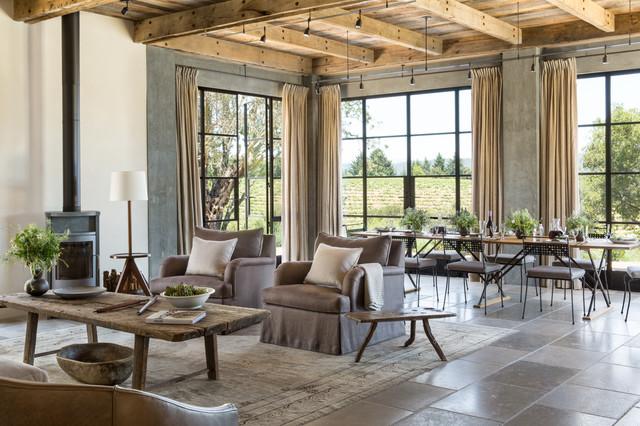 Healdsburg Ranch - Farmhouse - Living Room - San Francisco - by Jute ...