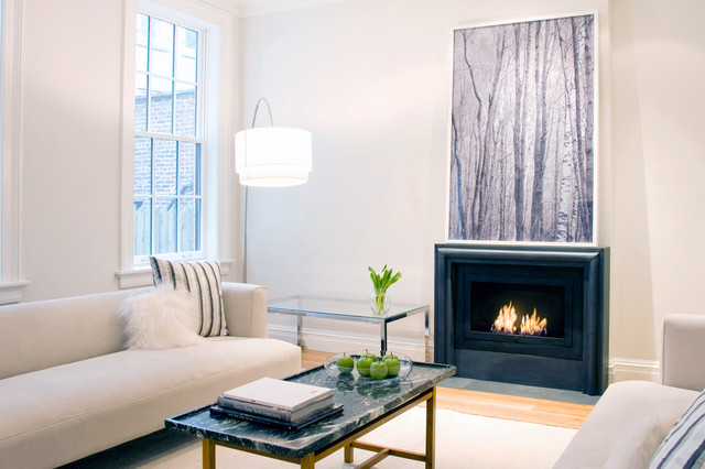 Hearth Cabinet Ventless Fireplace Linear Modern Black Contemporary Fireplaces New York