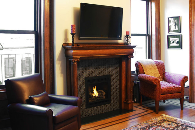 Hearth Cabinet Ventless Fireplace Small Traditional Black Contemporary Living Room New
