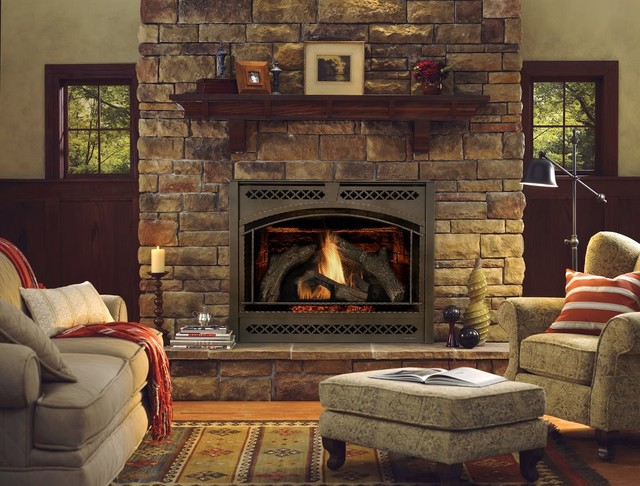 Heat & Glo 8000 Series Gas Fireplace traditional-indoor-fireplaces