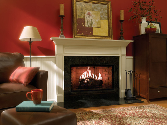 heat glo royal hearth wood fireplace traditional