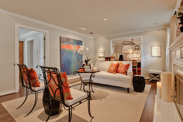 Heather Lane - Transitional - Living Room - Dallas - by ...