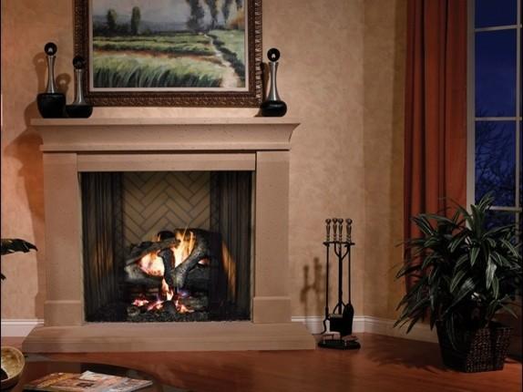 Heatilator Birmingham Wood Fireplace traditional-living-room