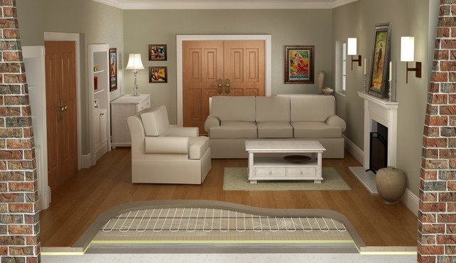 Heating Systems For All Types Of Floors Traditional Living Room New York By Warmup Us