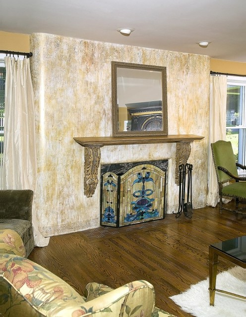 Heavenly Foyer and Living Room traditional-living-room