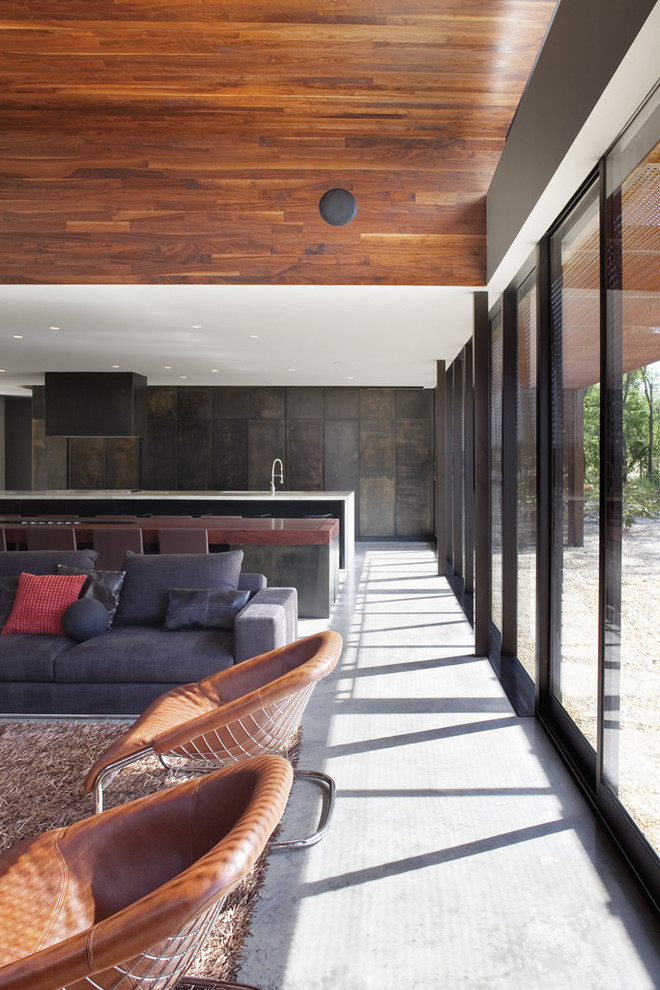 Inspiration for a contemporary living room remodel in Kansas City