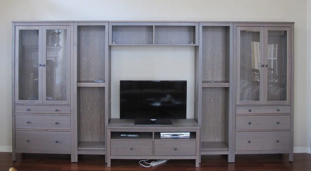 hemnes wall unit - classico - soggiorno - miami - di gatormod - Soggiorno Hemnes Ikea