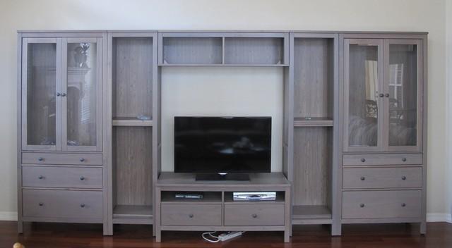 Hemnes wall unit traditional living room miami by for Soggiorno hemnes