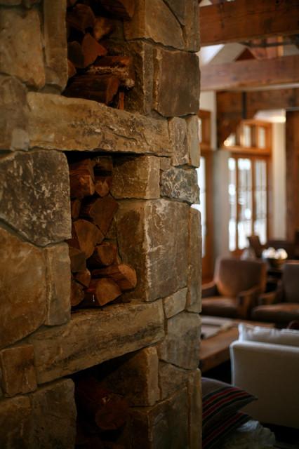 Henry Island rustic-living-room