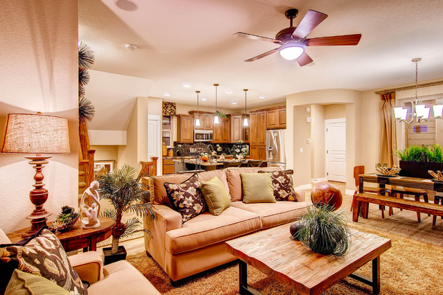 Heritage at Stapleton traditional-living-room