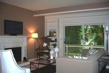 Heritage Village condo Staging, Southbury CT contemporary-living-room
