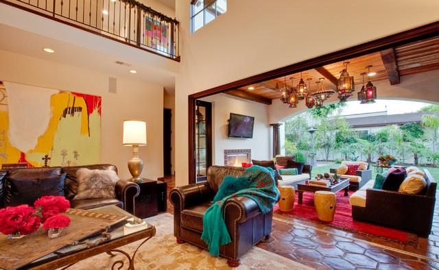 Hermosa Beach Mediterranean Moroccan Interior Design Mediterranean Living Room Los
