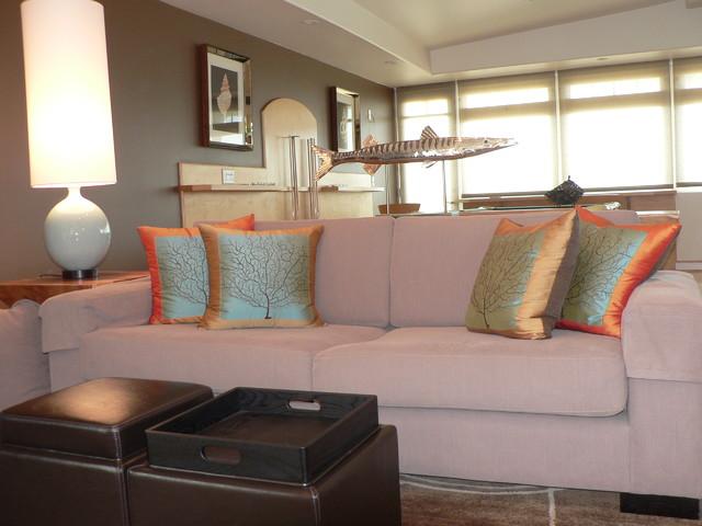 Hermosa Beach Modern beach-style-living-room