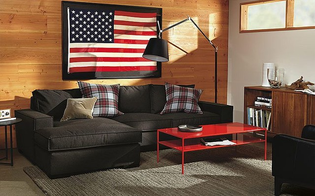 Hewitt Sofa with Chaise Room by R&B modern-living-room