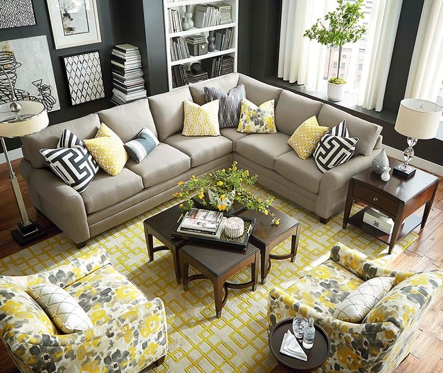Hamilton L Shaped Sectional By Bassett Furniture Alex Sofa By ...