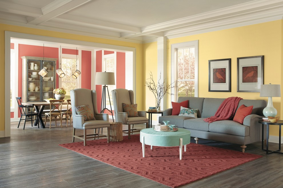 Inspiration for a living room remodel in Columbus