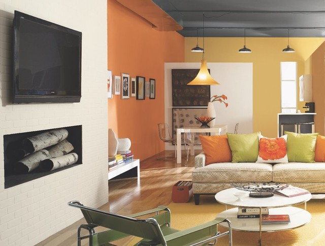hgtv home by sherwin williams contemporary living room other metro by sherwin williams. Black Bedroom Furniture Sets. Home Design Ideas
