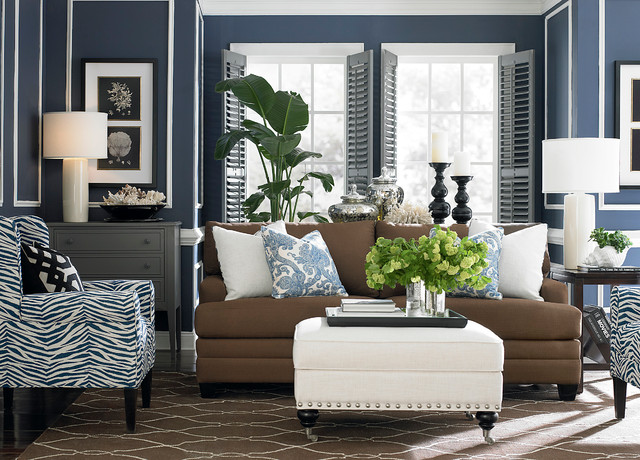 Hgtv home cu 2 sofa by bassett furniture contemporary for Sofa and 2 chairs living room