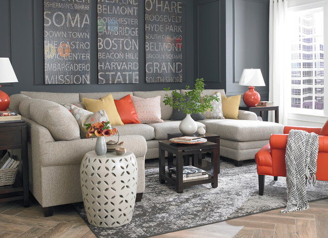 . HGTV Home CU 2 U Shaped Sectional by Bassett Furniture