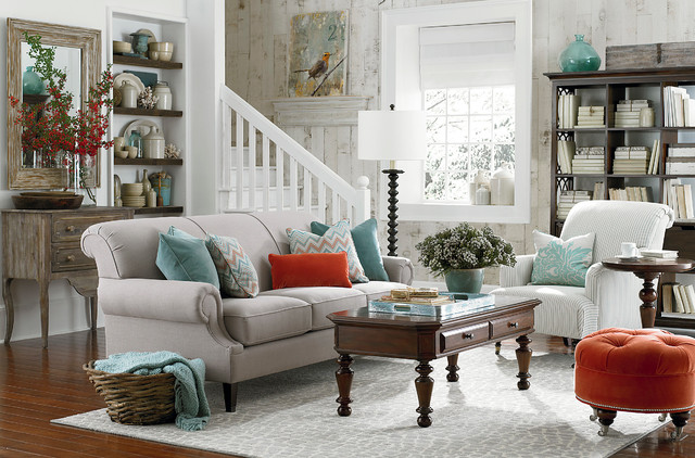hgtv home custom classics sofa by bassett furniture traditional living room other by
