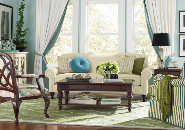 Hgtv Home Custom Classics Sofa By Bassett Furniture Traditional Living Room Raleigh By