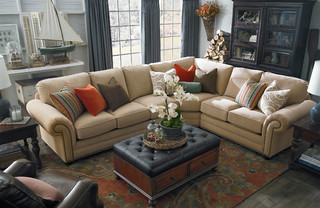 Hgtv Home Custom Upholstery Large L Shaped Sectional By Bassett Furniture Traditional Living