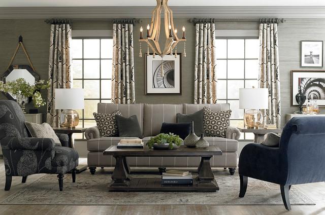 Charmant HGTV Home Custom Upholstery Medium Sofa By Bassett Furniture Contemporary  Living Room