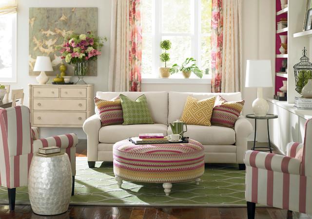 HGTV Home Custom Upholstery Sofa By Bassett FurnitureTraditional Living Room