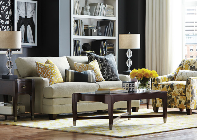 HGTV HOME Design Studio CU.2 Custom Sofa By Bassett Furniture Contemporary  Living