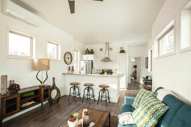 Hgtv Tiny House Hunters Transitional Living Room