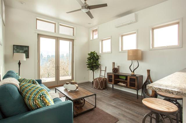 hgtv tiny house hunters transitional living room. Black Bedroom Furniture Sets. Home Design Ideas