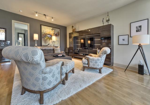 Hi Rise Condo Dallas Contemporary Living Room Dallas By M2 Design Group