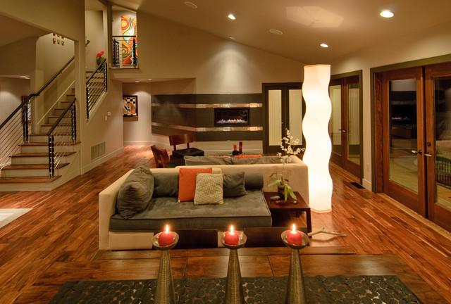 Hi Tech Feng Shui Residence Contemporary Living Room