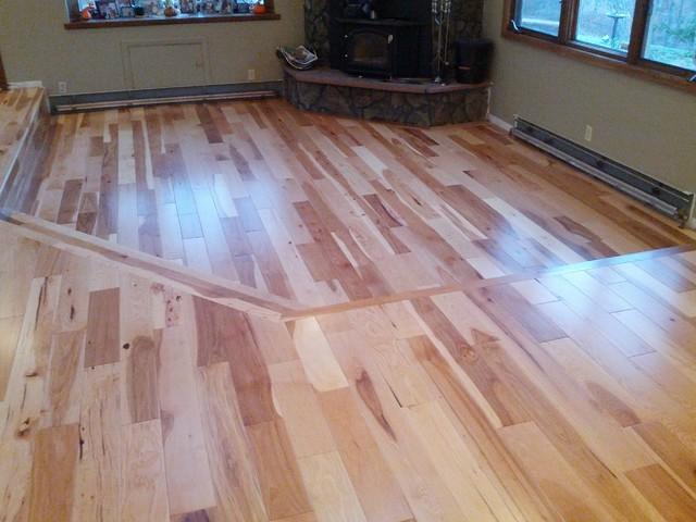 Hickory 5 wide rustic rustic living room denver for Hardwood flooring deals