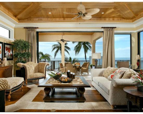 Tropical elegant living room home design photos decor ideas for Tropical living room design
