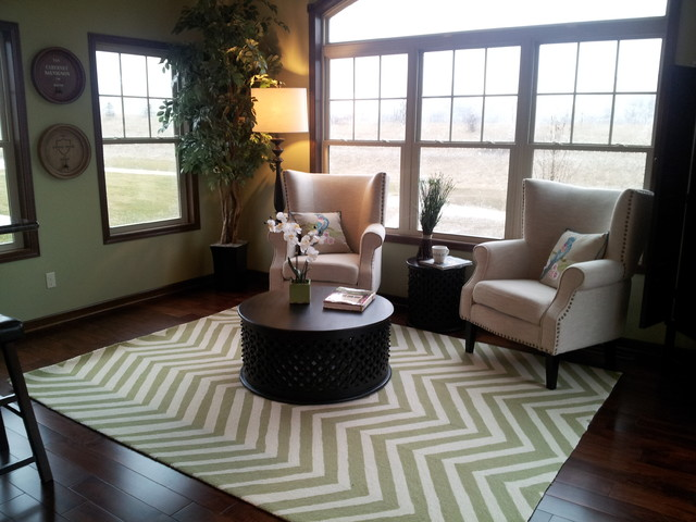 Hidden Oaks Model Home transitional-living-room