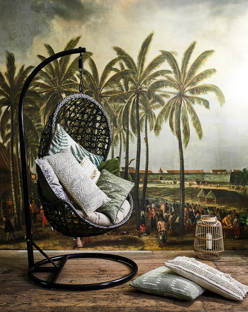 Hidden Treasure Hazel Hanging Chair Rustic Living Room Other By Barker And Stonehouse Houzz Uk