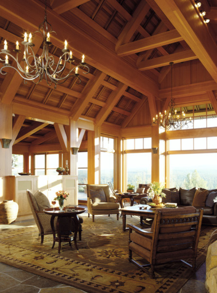 High Desert Lodge contemporary living room