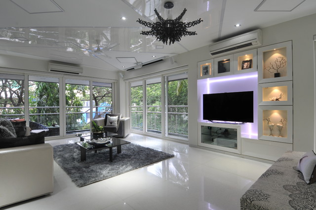 High End Residential Project At Vileparle 2 Contemporary Living Room