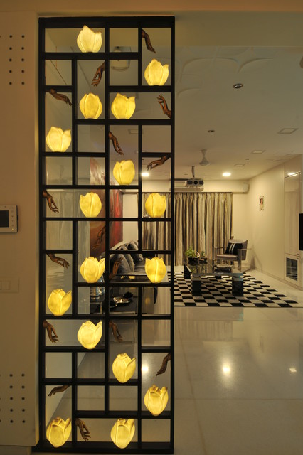 High end residential project in mumbai contemporary for Residential living room interior design